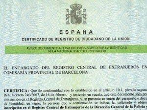 Número de Identidad de Extranjero -NIE-
